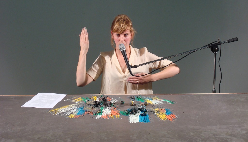 Hedwig Houben, Five Possible Lectures on Six Possibilities for a Sculpture, 2012, image still. Courtesy of the artist, La Loge & Galerie Fons Welters